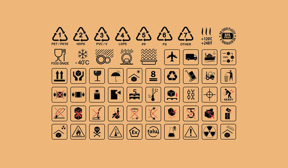 simbolos de manejo de carga